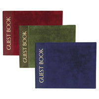 Opentip.com: Weddingstar 4065 Luxury Cover with Gold Foil Print Guest Book - Burgundy