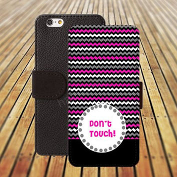 iphone 5 5s case chevron don't touch dream colorful rose lavender iphone 4/ 4s iPhone 6 6 Plus iphone 5C Wallet Case,iPhone 5 Case,Cover,Cases colorful pattern L157