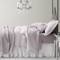 Garment-Dyed Crochet Linen & Percale Bedding Collection