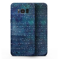 The Grungy Blue Green Stars Surface - Samsung Galaxy S8 Full-Body Skin Kit
