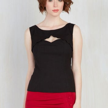 Stand Your Fairground Top in Licorice
