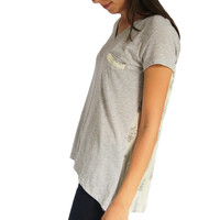 Pleat Back Tee
