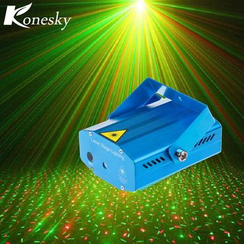 Konesky Mini Laser Projector DMX LED Stage Lighting Professional DJ Equipment Strobe Dance Disco Light Home Party Show Lights