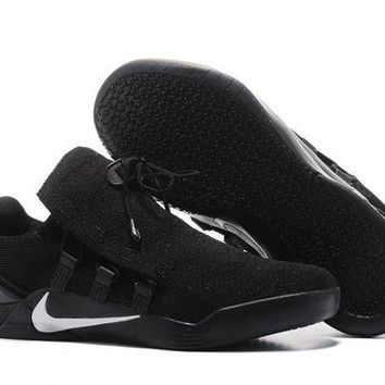 PEAPON3A VAWA Nike Zoom Men's Kobe 12 A.D.NXT Knit Basketball Shoes Black