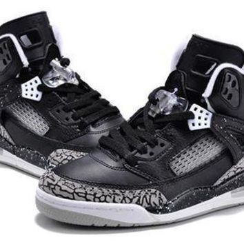 Hot Air Jordan 3.5 Spizike Retro Women Shoes Black White