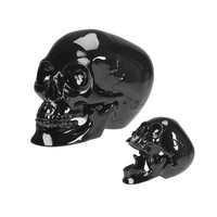 Black Skull w/ Movable Jaw by Summit Collection