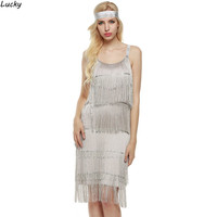 Fringe Spaghetti Strap Dress Fashion Style Women Sleeveless Beach Dress Flapper Costumes for Ladies Women Female Clubwear 41
