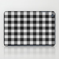 Sleepy Black and White Plaid iPad Case by RichCaspian