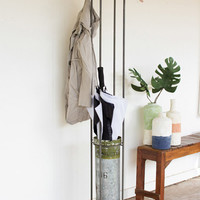 Coat Rack Umbrella Stand with Ammo Canister
