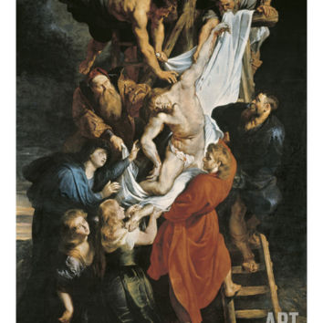 Descent from the Cross Art Print by Peter Paul Rubens at Art.com