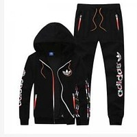 DCCKJ1A Adidas men and women tide brand casual fashion suits Black