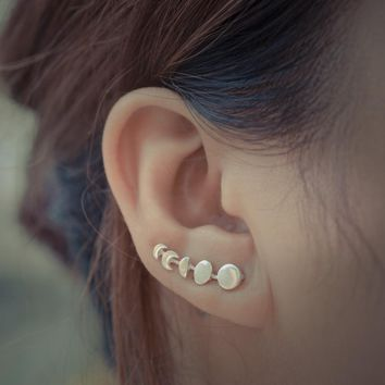 Moon Phase Ear Climbers