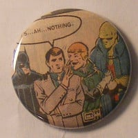"Comic Book 1.5"" Button// JLI// Batman, Max Lord, Green Lantern Guy Gardner, and Martian Manhunter"