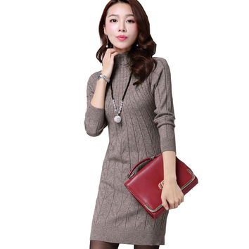 Women Knitting Warm Cute Casual Dress