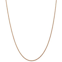 14k Rose Gold 1.5 mm Diamond Cut Rope Chain - 18 in.
