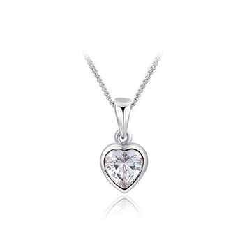 Shiny New Arrival Stylish Gift Jewelry Heart-shaped Necklace [9281902276]