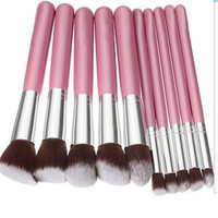 10Pcs Kit De Pinceis De Maquiagen Makeup Brush Set Powder Foundation Make Up Tools Beauty Cosmetics Pink Brochas Maquillaje