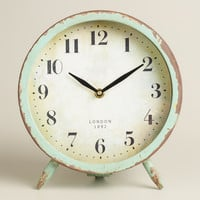 Large Aqua Charlie Clock - World Market