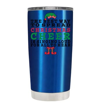 TREK The Best Way to Spread Christmas Cheer on Translucent Blue 20 oz Tumbler Cup