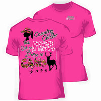 Southern Cute in Pink Better in Camo T-Shirt in Hot Pink