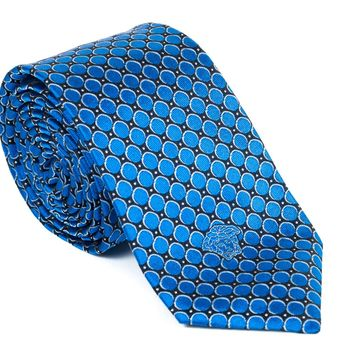 Gianni Versace Geometric Circle Silk Tie