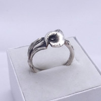 Vintage Sterling sliver spoon ring Reed & Barton Harlequin floral spoon ring Calla Lilly ring, 925 solid sterling silver, different sizes