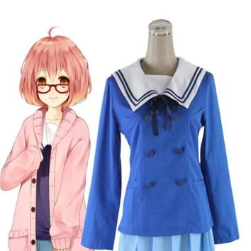 Cool Japan Anime kyoukai no kanata Kuriyama Mirai Cosplay School Uniform CostumeAT_93_12