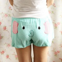 Cute Elephant Women Shorts