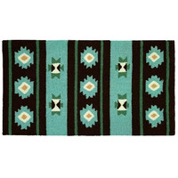Homefires Accents Navaho Blanket 22-Inch by 34-Inch Indoor Rug
