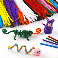 30pcs/ lot Wool Top Children's Educational Toys DIY toys materials shilly-stick Plush Stick handmade art Christmas toys hot sale