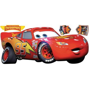 Disney Cars Lightning McQueen Champion Wall Accent Decals