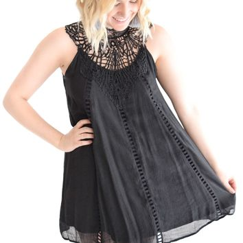 Colorado Night Dress In Black