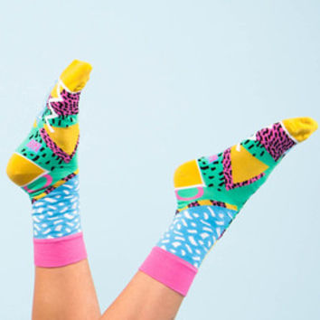 Sparkle socks, zigzag socks, triangle socks, pattern socks for women, cool socks, women's argyle socks, funky women socks, socks