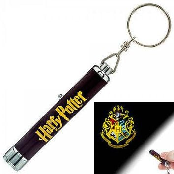 Harry Potter Hogwarts Castle Crest Logo Signal Projection Flashlight Keychain