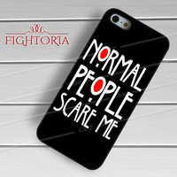 Normal People Scare Me American Horror Story - zAAz for  iPhone 4/4S/5/5S/5C/6/6+s,Samsung S3/S4/S5/S6 Regular/S6 Edge,Samsung Note 3/4