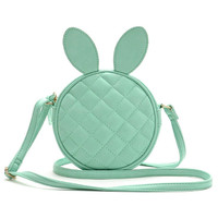 Green Mini Quilted Bunny Crossbody Bag