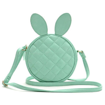 Green Quilted Bunny Cross Body Bag