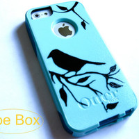 OTTERBOX iphone 5 case, case cover iphone 5s otterbox ,glitter otterbox case,otterbox iPhone 5,gift, bird otterbox case