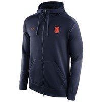 Syracuse Orange Nike KO Chain Fleece Full Zip Performance Hoodie – Navy Blue