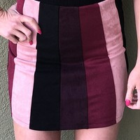 Happy Holidays Skirt- Mauve Multi