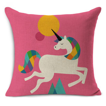 cute horse/rabbit/lion Cushion Pillow Almofadas Para Sofa Cushion Decorative Pillow Home Decor Sofa Throw Pillow Cushion 45*45
