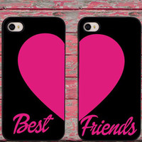 Pink Heart Best Friend Phone Cases for iPhone 6 6 plus 5c 5s 5 4 4s