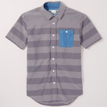 p.s. from Aéropostale Gray Stripe Button-Up - Boys