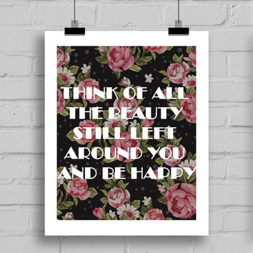 Think of all the Beauty Printable Wall Decor (JPG/PDF) 8x10