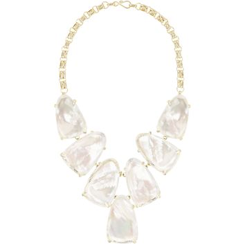 Kendra Scott: Harlow Statement Necklace In Suspended Ivory Pearl