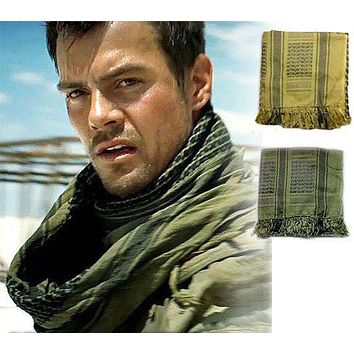 Shemagh Army Military head scarf plaid Keffiyeh Scarve Palestine Desert cotton Muslim Hijab Thicken Islamic Wrap bandana sq303