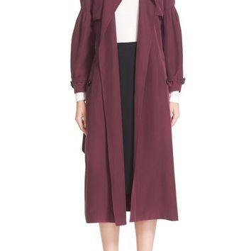 Burberry Maythorne Mulberry Silk Trench | Nordstrom