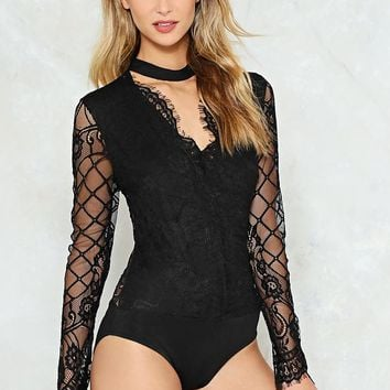 Call the Turn See Lace Bodysuit