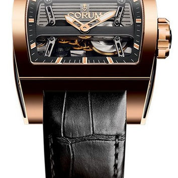 Corum Ti-Bridge Automatic Dual Winder Red Gold Men's Watch 207.201.05/0F01 0000