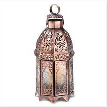 Copper Moroccan Candle Lamp (pack of 1 EA)